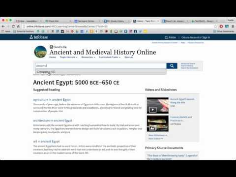 Ancient and Medieval History Online