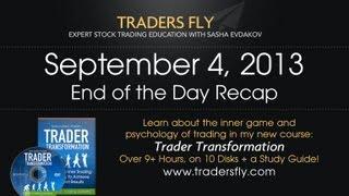 Stock Market Recap on DJIA, SPX, Amazon, Apple, Netflix, and Google - Sept 4, 2013