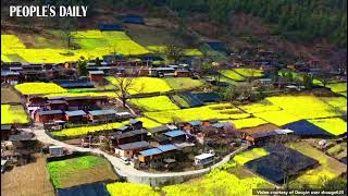 Bingzhongluo Town in SW China's Yunnan is a fairyland hidden in the valleys of Nujiang River.