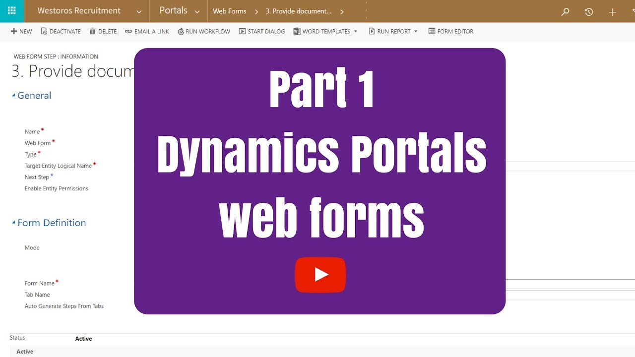 Part 1 of Dynamics Portal Web Forms - Save and Close, and Submit