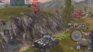 WoT Blitz Game Play - VK 28.01 and Hellcat Platoon