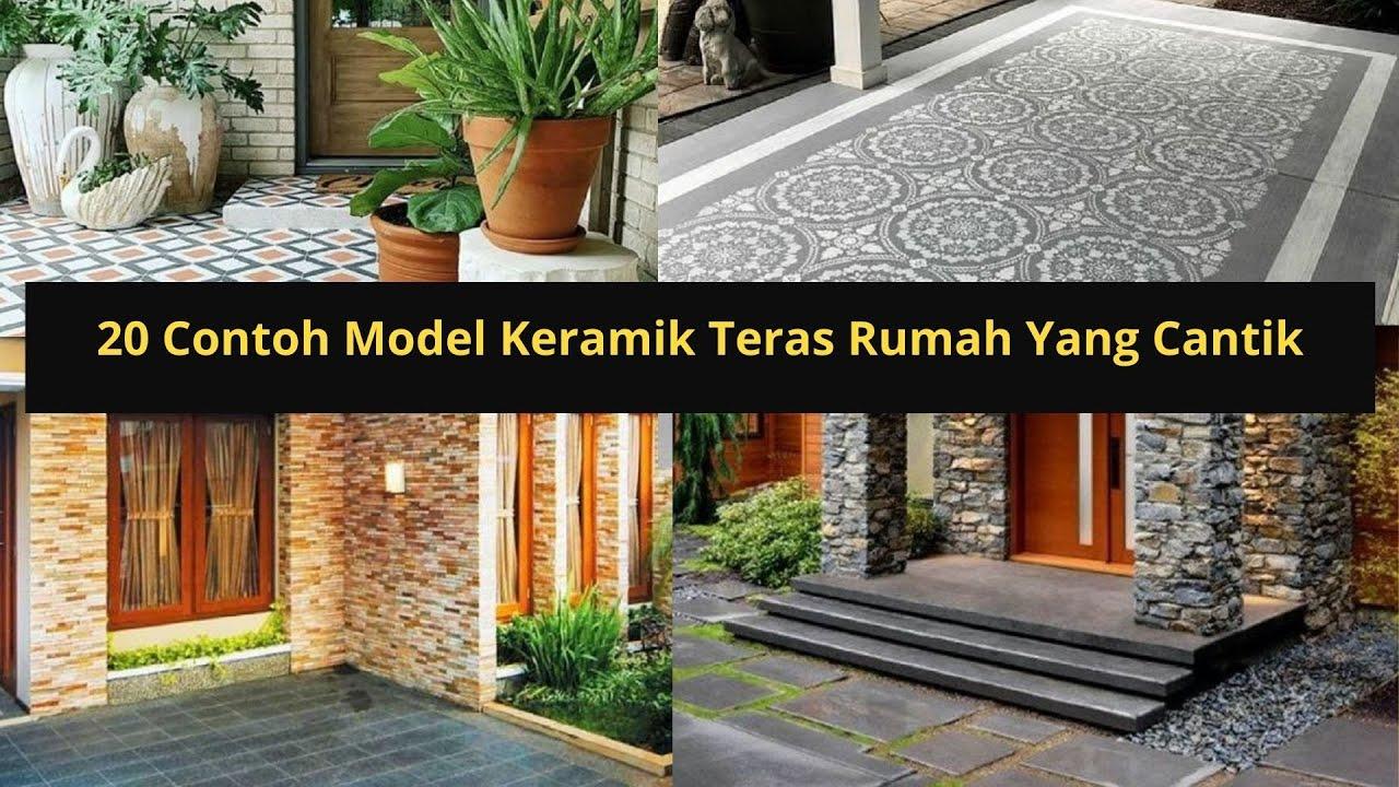 20 Contoh Model Keramik Teras Rumah Yang Cantik Youtube Motif keramik teras rumah minimalis