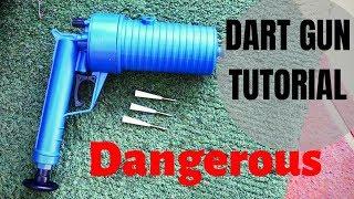 How To Make A High Power Dart GUN! from a drain unblocker $20