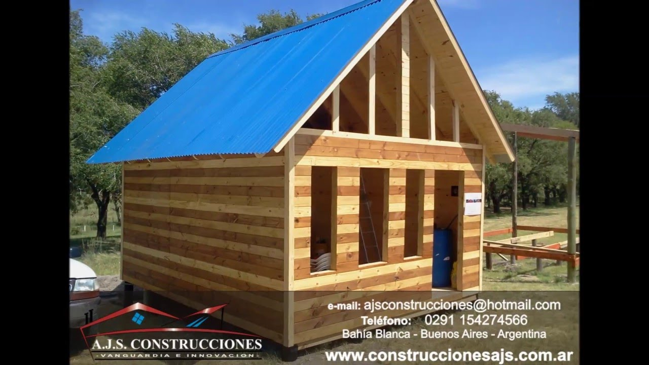 Construccion de casas y caba as de madera o tronco bahia for Construccion en madera