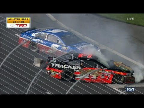 NASCAR Crashes and Highlights for the NC Education Lottery 200 / Sprint All Star Race 5/21/2016