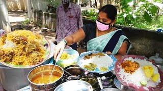 Hard Working Women Selling Cheapest Roadside Unlimited Meals | #StreetFood