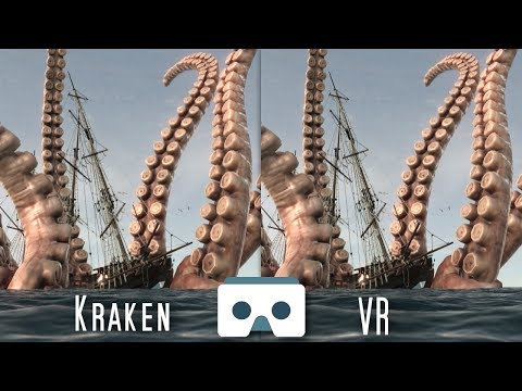 The Kraken attacks a Ship: Virtual Reality Sea Monsters scary 3D Video for VR Box, Oculus, Gear VR from YouTube · Duration:  1 minutes 52 seconds