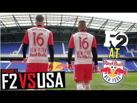F2 FREESTYLERS TRAIN WITH NEW YORK RED BULLS! | F2 VS USA
