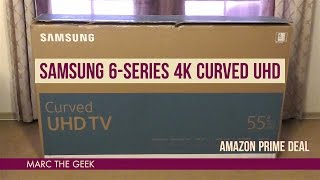 "Samsung 6-Series 4K 55"" Curved UHD ($649 Amazon Prime Deal)"