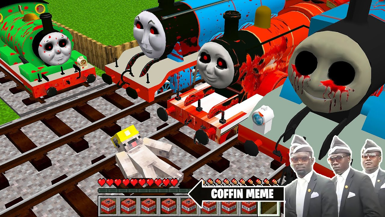 Download RETURN of THOMAS THE TANK ENGINE.EXE and FRIENDS in Minecraft -NEW EPISODE - Coffin Meme