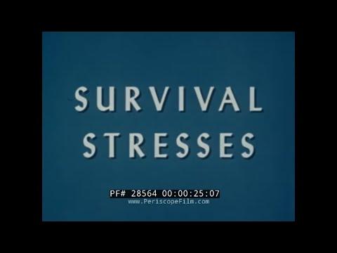 "1961 U.S. AIR FORCE SURVIVAL TRAINING FILM ""SURVIVAL STRESSES"" 28564"