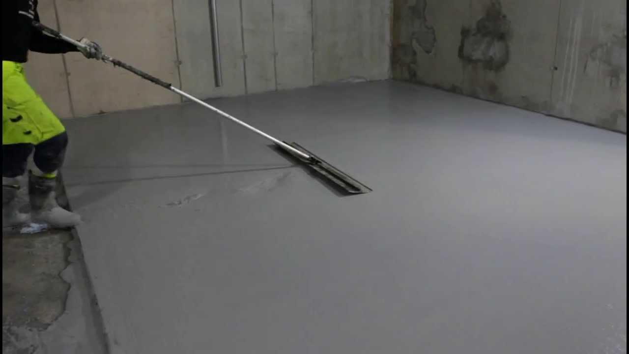 glättning av betong