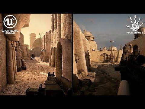 Mos Eisley: Unreal Engine 4 vs Frostbite 3 Graphics Comparison 4K