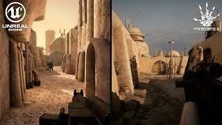 Mos Eisley: Unreal Engine 4 vs Frostbite 3 Graphics Comparison 4K