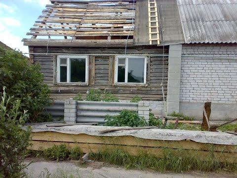 видео: замена венцов деревянного дома 2014