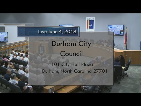 Durham City Council June 4 2018 Youtube
