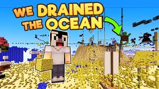 I Forced 200 Minecraft Players to Drain the Minecraft Ocean