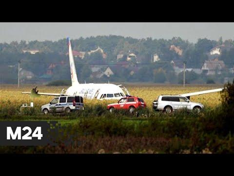 Смотреть Экипаж A321 сумел посадить самолет в кукурузном поле с двумя поврежденными двигателями - Москва 24 онлайн