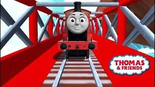 Tomas el tren en español - Thomas y sus amigos. James y sus amigos en las vías mágicas. Latino. thumbnail