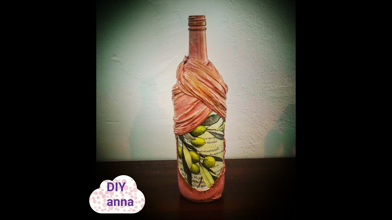 What you need to decoupage the bottle What you need to decoupage the novice 14