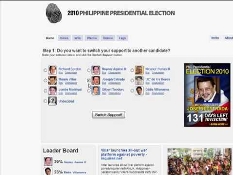 Facebook Application Survey- 2010 Philippine Presidential Contenders
