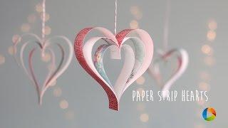 DIY: Paper Strip Hearts