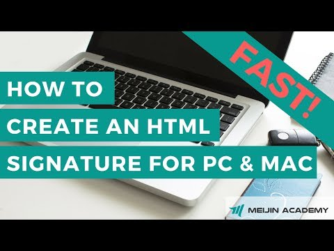 How To Create Html Signature For PC And Mac
