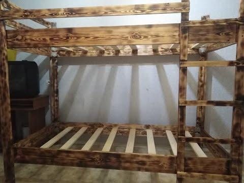 Как сделать самому 2х ярусную кровать из дерева