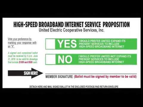 Service electric internet status