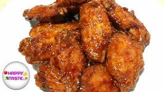ไก่ทอดเกาหลีหนังกรอบๆเคลือบซอสเข้มข้น ไก่บอนชอน|ทำอาหารง่ายๆ |happytaste