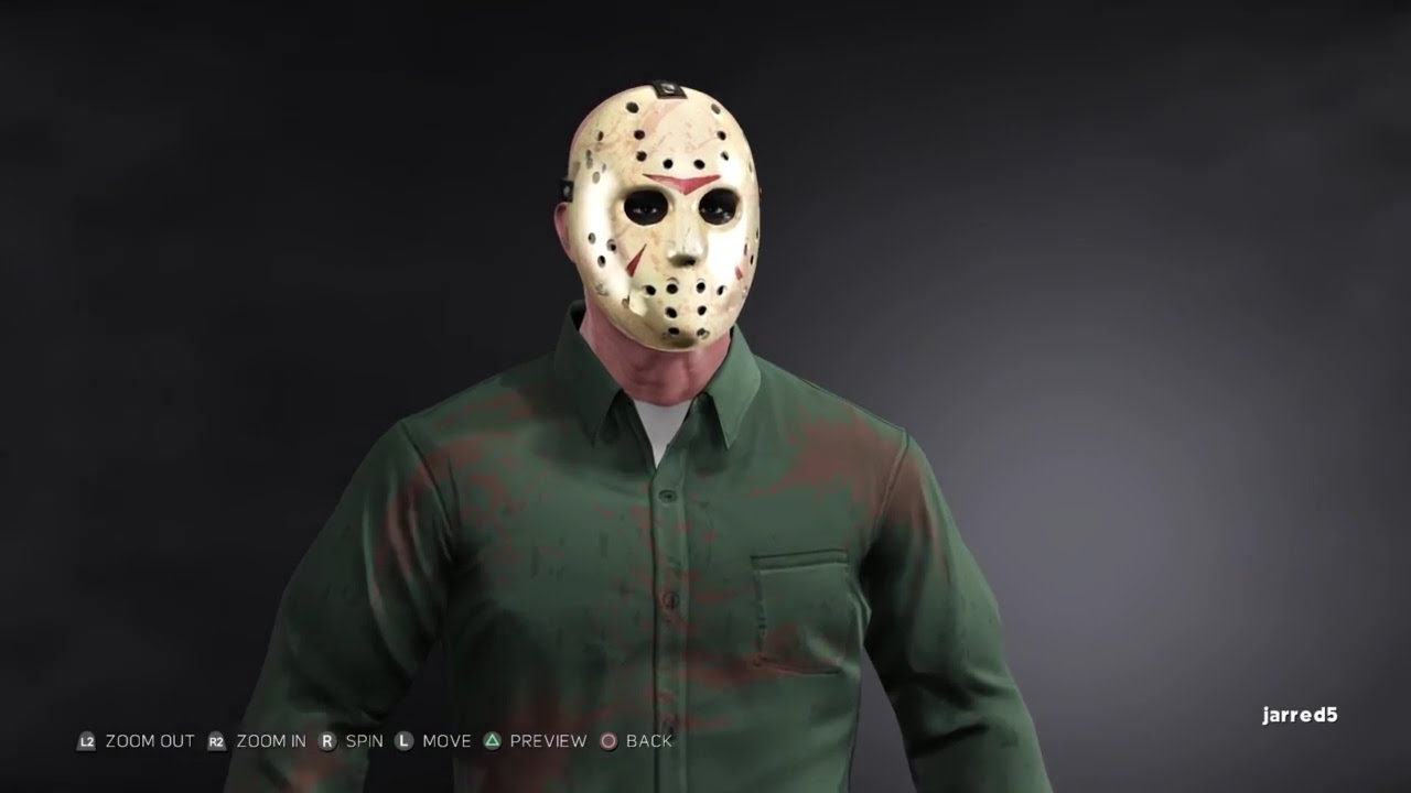 WWE 2K17 Jason Voorhees `Friday the 13th Part 3` (CAW) creation (PS4)
