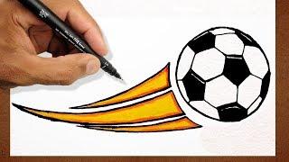 Como Desenhar Bola De FUTEBOL, How to Draw