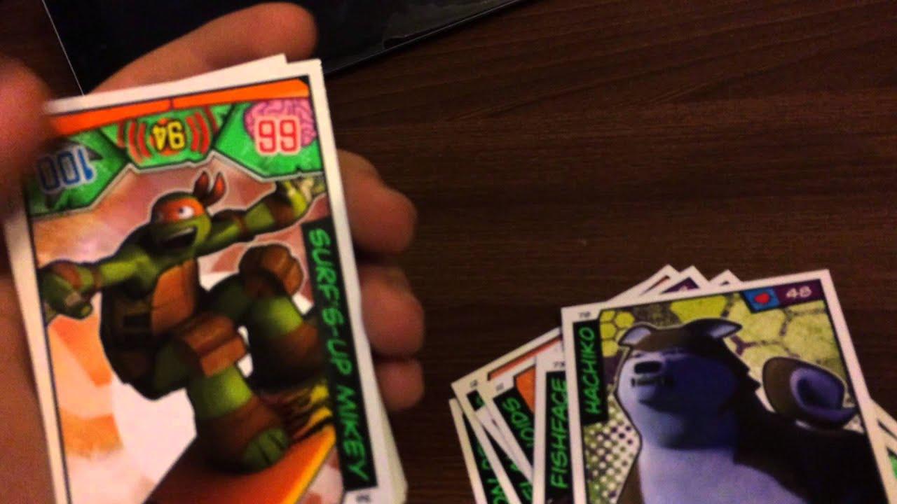 Моя Коллекция Карточек Черепашки ниндзя - YouTube