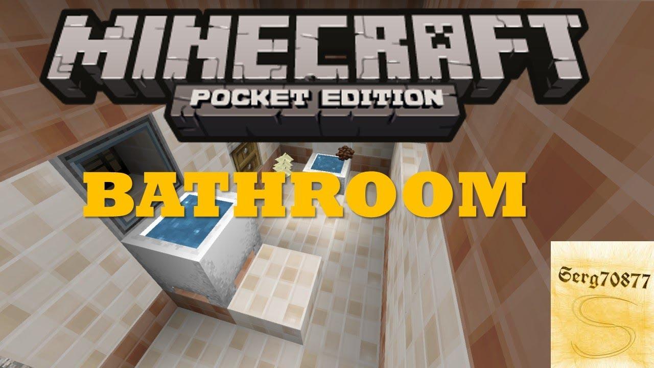 Minecraft Pocket Edition Build Tutorials 3 BATHROOM