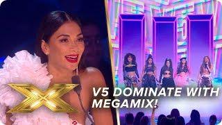 V5 DOMINATE with motivational megamix!   Live Week 3   X Factor: Celebrity