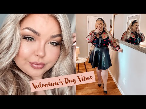 VALENTINES DAY: PLUS SIZE OUTFITS + MAKEUP INSPO