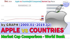 Apple vs Countries[All Companies] Market Cap Race (2000.01~2019.12)