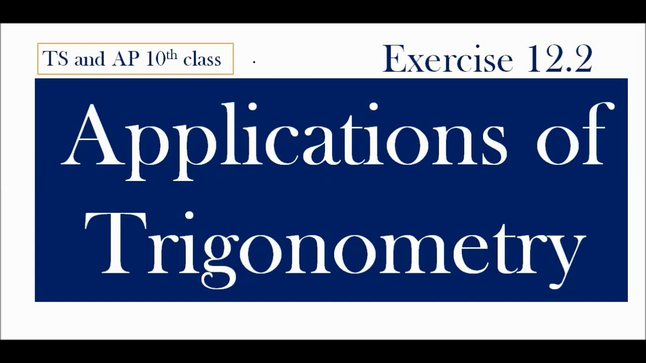 Applications Of Trigonometry