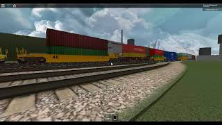 ROBLOX AWVR EMD SD70ACE Leaving the Yard