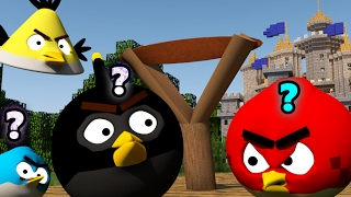 REALLY ANGRY BIRDS IN MINECRAFT 2! - 3D ANIMATION