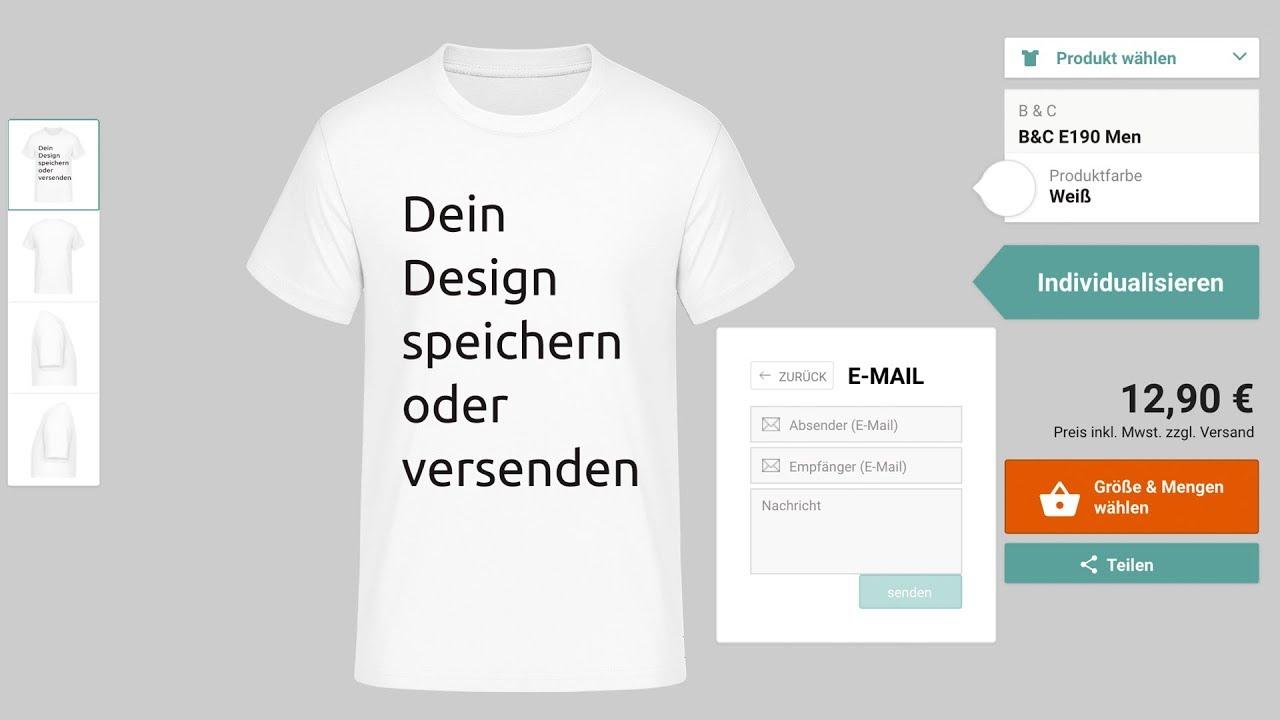 newest 4422e 171bf T-Shirt selbst gestalten - alle VIDEO Anleitungen zum online ...