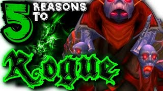 5 Reasons To Rogue, World of Warcraft, Class Spotlight.(Live Stream : http://www.twitch.tv/bigmattywow G'day everyone! The Rogue has come, through the shadows they stalk, In the darkness they hide, then sap you ..., 2015-04-03T17:04:53.000Z)