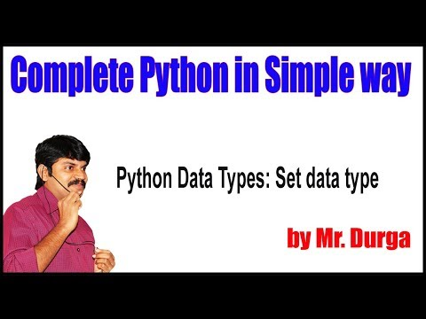 Fundamental Data Types ||  Python Data Types Set data type|| by Durga Sir thumbnail