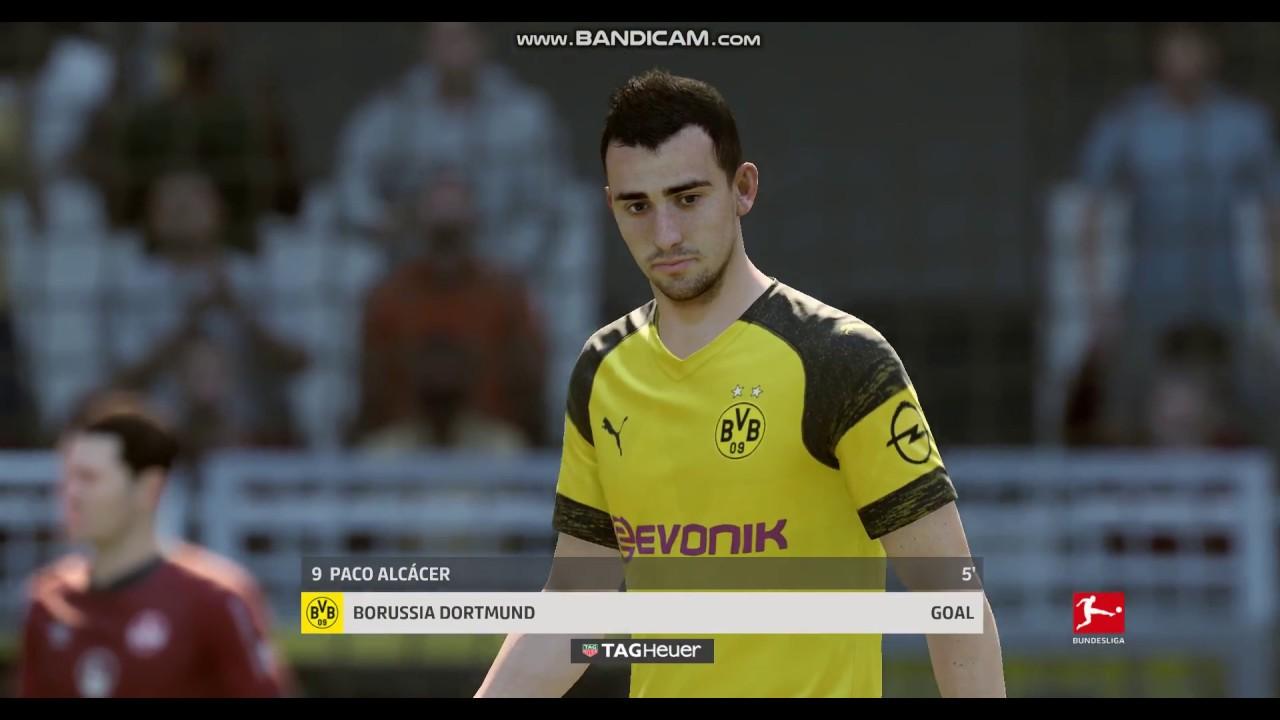 Paco Alcacer Goal Borussia Dortmund Vs Nürnberg Bundesliga Fifa 19