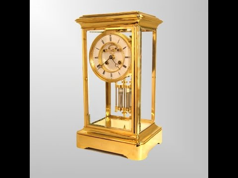 Antique French Four Glass Mantel Clocks