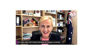 Dr Katie Allen MD, and Member of parliament of Australia, invites you to the webinar on April 12