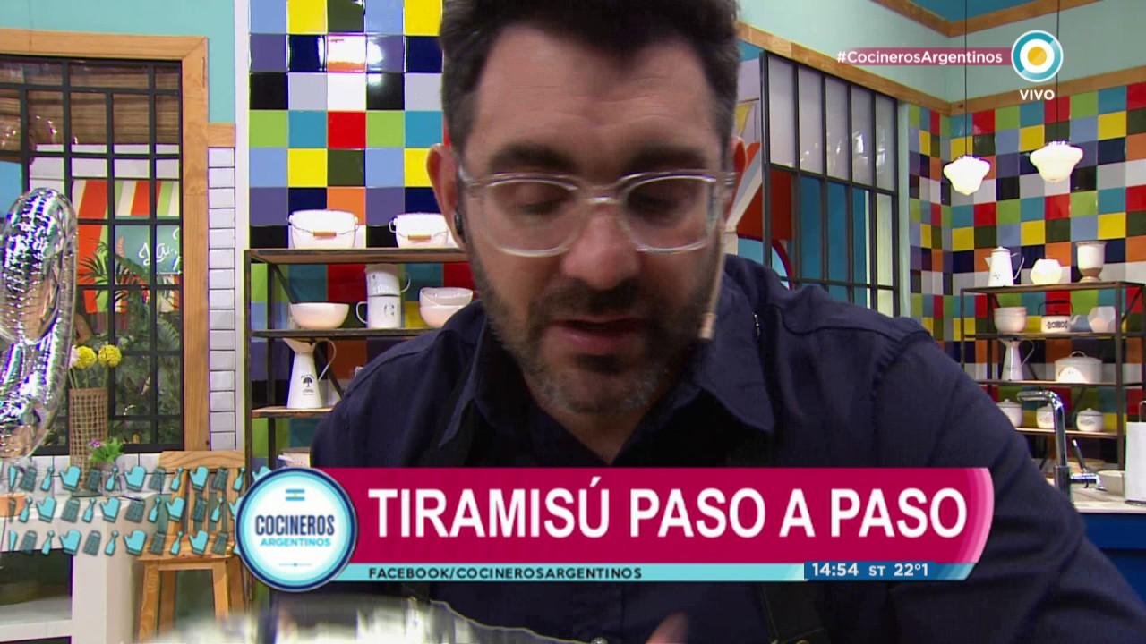 Tiramisu en Cocineros Argentinos - YouTube