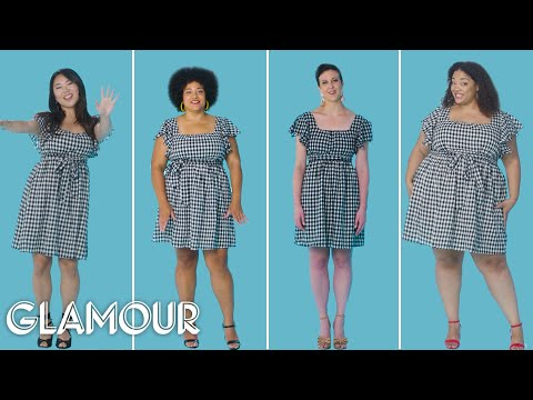 Women Sizes 0 To 26 Try On The Same Short Dress | Glamour