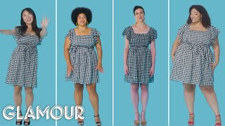 Women Sizes 0 Through 26 Try On the Same Short Dress | Glamour