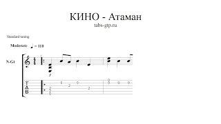 Виктор Цой|Кино-Атаман|ноты для гитары табы аранжировка